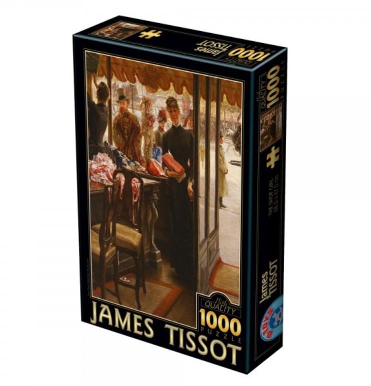 Puzzle 1000 pièces James Tissot - The Shop Girl DToys
