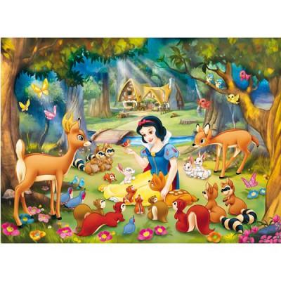 Puzzle blanche neige et les animaux de la for t clementoni 27831 104 pi ces puzzles blanche - Animaux de blanche neige ...
