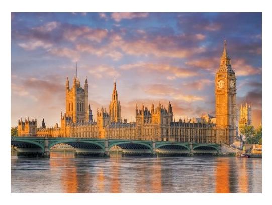 Puzzle Londres, Palais de Westminster, Maison du Parlement Clementoni