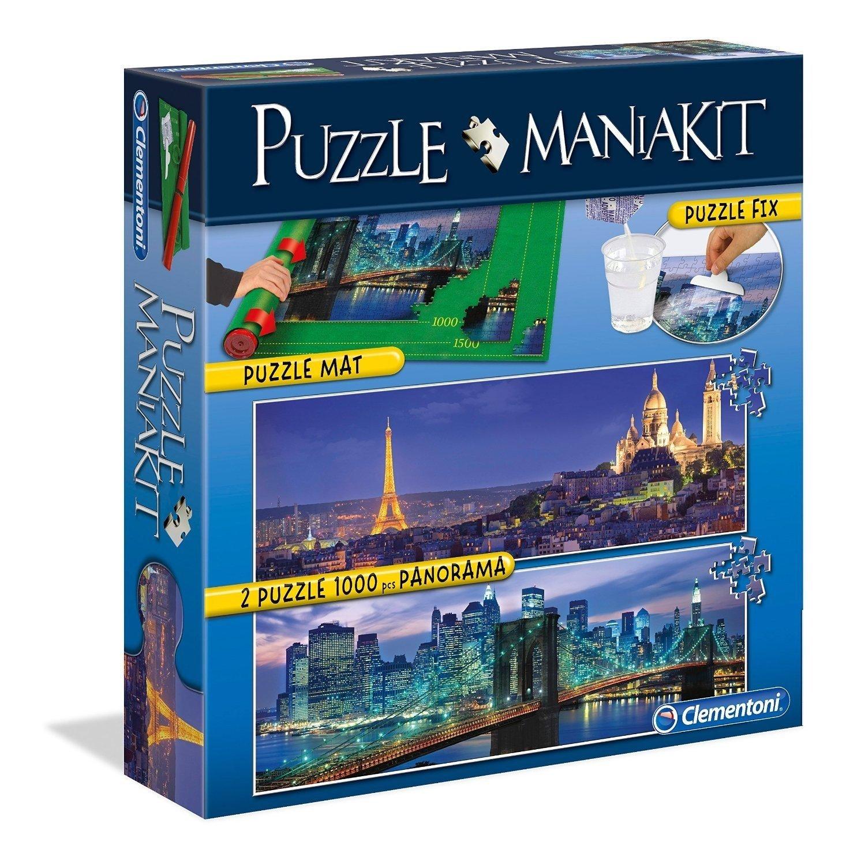 Mania Kit : 2 Puzzles + 1 Tapis de Puzzle 1500 Pièces Clementoni
