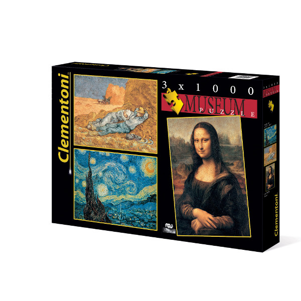 3 Puzzles - Museum Clementoni