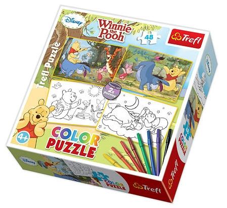 2 Puzzles + 8 Feutres - Winnie l`Ourson Trefl