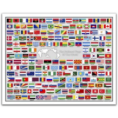 puzzle en plastique drapeaux du monde avec le nom des pays en anglais pintoo h1488 2000 pi ces. Black Bedroom Furniture Sets. Home Design Ideas