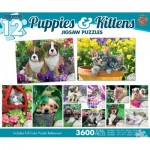 Master-Pieces-31647 12 Puzzles - Puppies & Kittens