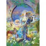 Puzzle  Master-Pieces-71566 Kinuko: Cybele's Secret - Pièces Scintillantes