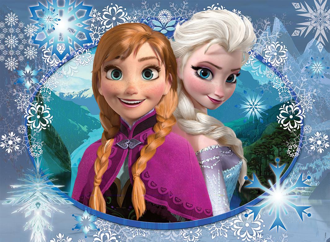 puzzle la reine des neiges anna et elsa nathan 86858 150 pi ces puzzles autres disney. Black Bedroom Furniture Sets. Home Design Ideas