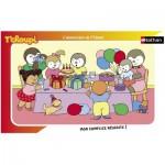 Puzzle  Nathan-86003 Le gâteau d'anniversaire de T'Choupi