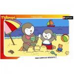 Puzzle  Nathan-86096 T'Choupi à la plage