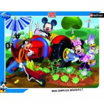 Nathan-86101 Puzzle cadre - Mickey et ses amis au jardin
