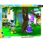 Nathan-86140 Puzzle Cadre - Zou et Elzée
