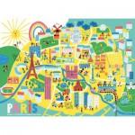 Puzzle  Nathan-86566 Plan de Paris