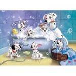 Puzzle  Nathan-86612 Les 101 Dalmatiens : Tous au bain