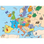 Puzzle  Nathan-86934 Carte d'Europe
