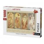 Puzzle  Nathan-87470 Alfons Mucha - Les Saisons