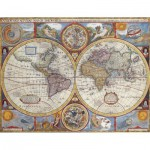 Puzzle  Nathan-87870 Planisphère Historique