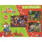 Noris-6060-31427 3 Puzzles - Léo la Souris