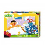 Noris-6060-38062 2 Puzzles - Rue Sésame