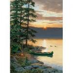 Puzzle  Cobble-Hill-51662 Persis Clayton Weirs : Canoé sur le Lac