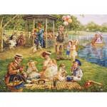 Puzzle  Cobble-Hill-51705 Lee Dubin : Pique-Nique Familial