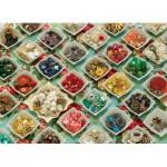 Puzzle  Cobble-Hill-51728 Les Boutons de Mamie
