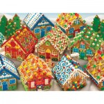 Puzzle  Cobble-Hill-51770 Gingerbread Houses