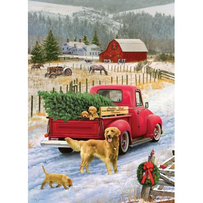 Puzzle Cobble-Hill-51833 Christmas on the Farm