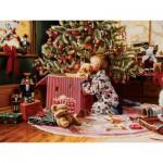 Puzzle  Cobble-Hill-52076 Pièces XXL - Ron Bayens : Le Matin de Noël