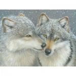 Puzzle  Cobble-Hill-52087 Pièces XXL - Kathy Goff - Wolf Kiss