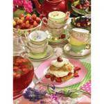 Puzzle  Cobble-Hill-52095 Pièces XXL - Strawberry Tea