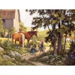 Puzzle  Cobble-Hill-52106 Pièces XXL - Douglas Laird - Summer Horses