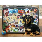 Puzzle  Cobble-Hill-52107 Pièces XXL - Dachshund 'Round the World
