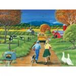 Puzzle  Cobble-Hill-54560 En retard pour le Bus