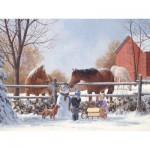 Puzzle  Cobble-Hill-54566 Douglas Laird : Les Amis de la neige