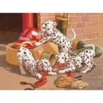 Puzzle  Cobble-Hill-54577 Jim Lamb : Les Dalmatiens Pompiers
