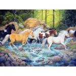 Puzzle  Cobble-Hill-54585 Pièces XXL - Michelle Gladish - The Horse Crossing