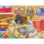 Puzzle  Cobble-Hill-54587 Pièces XXL - Amy Rosenberg - Hush Puppies