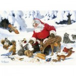 Puzzle  Cobble-Hill-54605 Pièces XXL - Family - Santa Claus and Friends