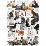 Puzzle  Cobble-Hill-57194 Les Chats