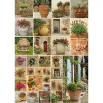 Puzzle  Piatnik-5455 Collage - Fleurs