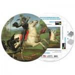 Pigment-and-Hue-RSTGEO-41304 Puzzle Rond déjà assemblé - Raphaël : Saint-George luttant avec le dragon