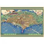 Puzzle  Pomegranate-AA737 USA, Chicago : Carte de la ville