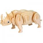 Professor-Puzzle-AC1319 Puzzle 3D en Bois - Rodney le Rhinocéros