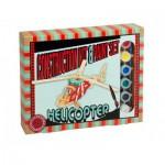 Professor-Puzzle-PS1196 Puzzle 3D en Bois + Peinture - Hélicoptère
