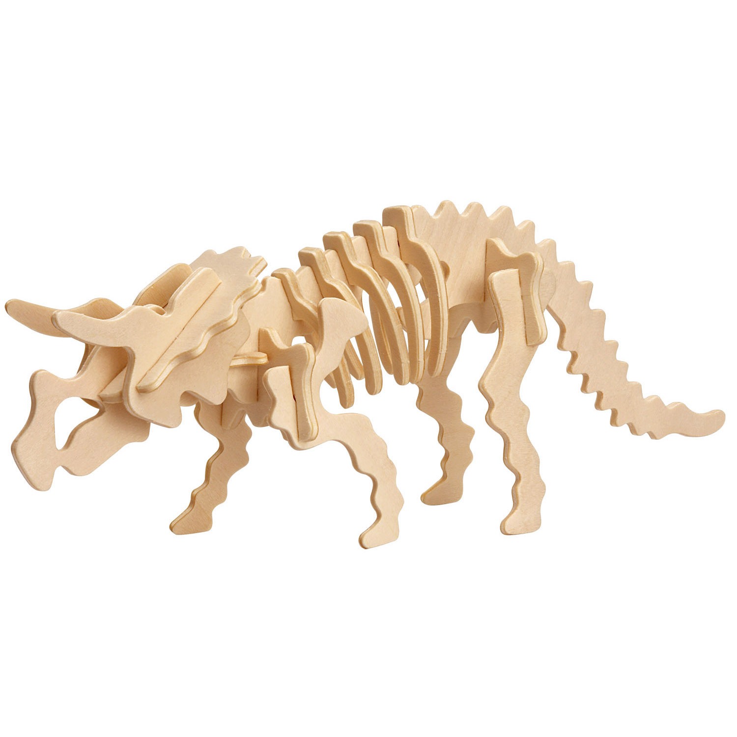 puzzle 3d en bois triceratops professor puzzle dc1344 17 pi ces puzzles dinosaures planet. Black Bedroom Furniture Sets. Home Design Ideas