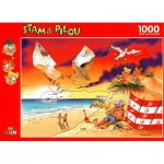 Puzzle  PuzzelMan-060 Stam & Pilou : La Plage