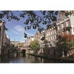 Puzzle  PuzzelMan-424 Pays Bas, Utrecht : Vue sur le canal