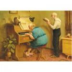 Puzzle  PuzzelMan-793 Van Dokkum Marius : Les Vieux Chantent