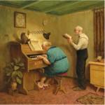 Puzzle  PuzzelMan-797 Van Dokkum Marius : Les Vieux Chantent