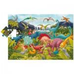 Ludattica-51373 Puzzle Géant de Sol - Dinosaures