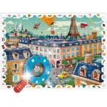 Puzzle  Ludattica-52462 Pièces XXL - Baby Détective : La Ville